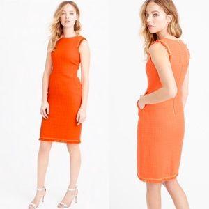 J. Crew Orange Sheath Dress in Size 6